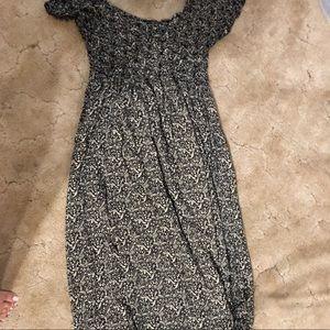 Off cold shoulder long maxi dress M/L